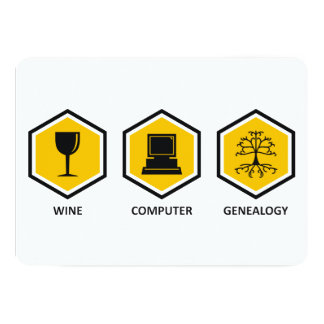 Wine Computer Genealogy Card