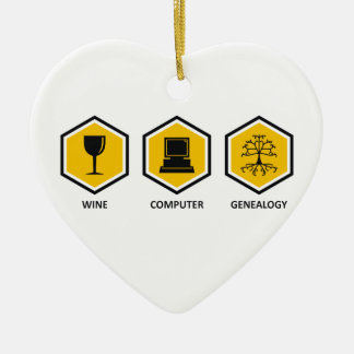 Wine Computer Genealogy Ceramic Ornament
