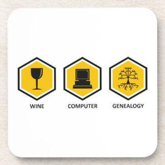 Wine Computer Genealogy Coaster