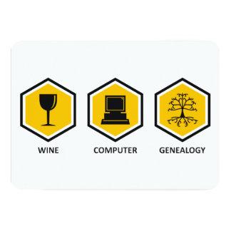 Wine Computer Genealogy Custom Invite