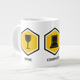 Wine Computer Genealogy Giant Coffee Mug