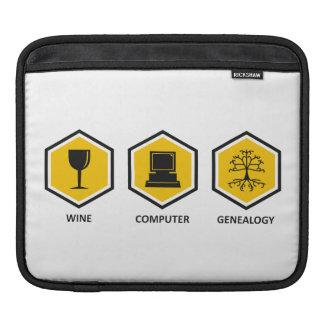 Wine Computer Genealogy iPad Sleeve