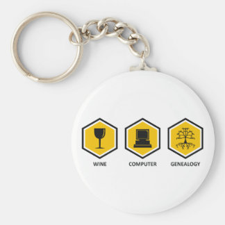 Wine Computer Genealogy Keychain