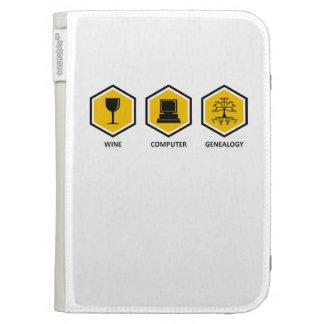 Wine Computer Genealogy Kindle 3G Cases