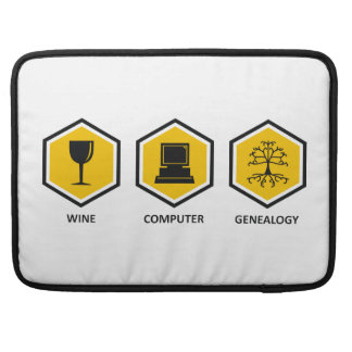 Wine Computer Genealogy MacBook Pro Sleeves