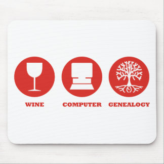 Wine Computer Genealogy Mouse Pad