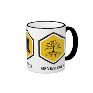 Wine Computer Genealogy Ringer Coffee Mug