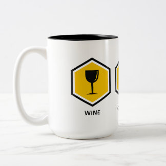 Wine Computer Genealogy Two-Tone Coffee Mug