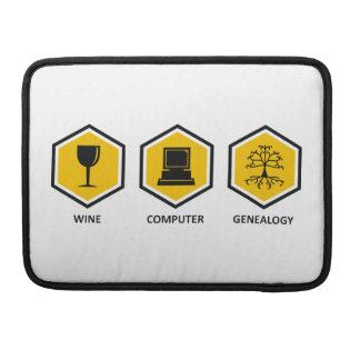 Wine Computer Genealogy Sleeve For MacBooks