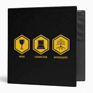 Wine Computer Genealogy Vinyl Binders