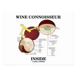 Wine Connoisseur Inside (Wine Grape Berry) Post Cards