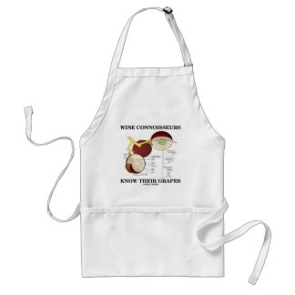 Wine Connoisseurs Know Their Grapes (Humor) Adult Apron