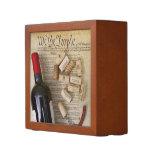 Wine & Constitution Desk Organizer! Pencil/Pen Holder