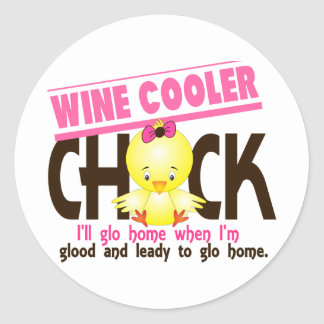 Wine Cooler Chick Sticker