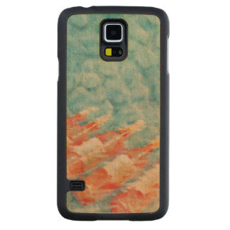 Wine Cooling 2010 Carved Maple Galaxy S5 Case