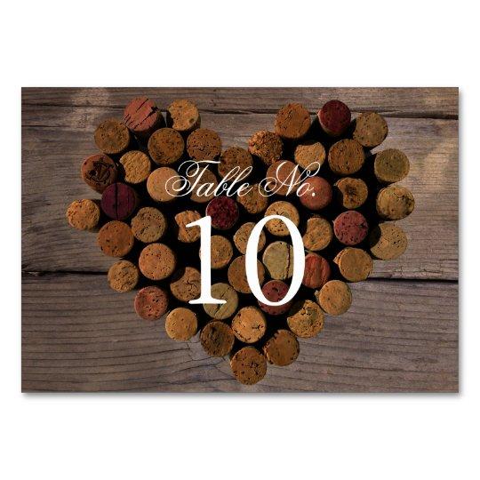 Wine Cork Table Numbers: Wine Cork #2 Rustic Table Number Card