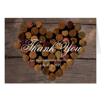 Wine Cork #2 - Rustic Thank You notes