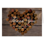 Wine Cork #2 - Rustic Thank You notes Stationery Note Card