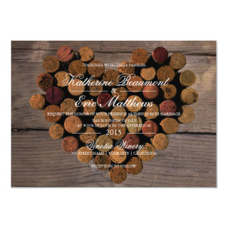 Wine Cork #2 Rustic Wedding Invitation