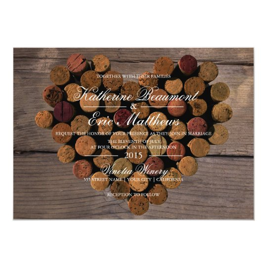 Wine Cork Wedding: Wine Cork #2 Rustic Wedding Invitation