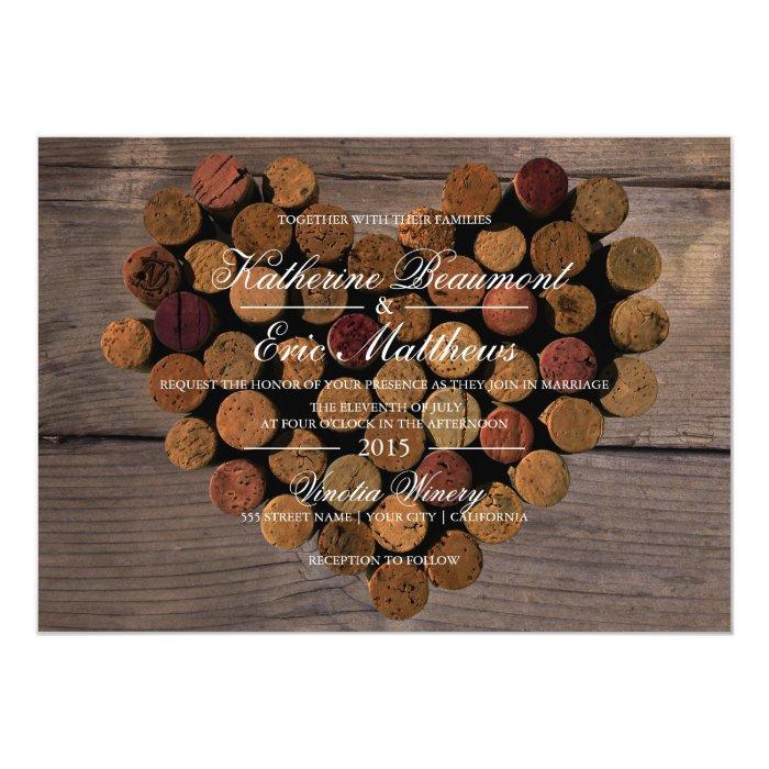 Cork Wedding Invitations: Wine Cork #2 Rustic Wedding Invitation