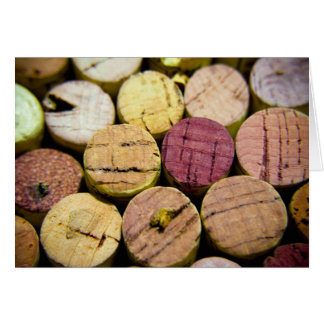 Wine Cork Celebration Card