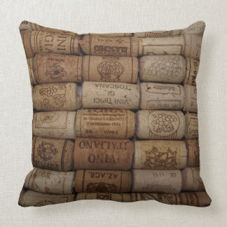 Wine Cork Collection Throw Pillows