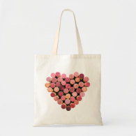Wine Cork Heart Bag