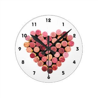 Wine Cork Heart Clock