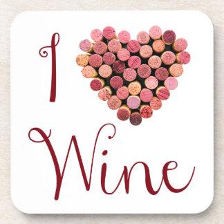 Wine Cork Heart Coasters