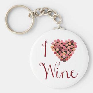Wine Cork Heart Keychain