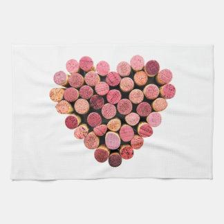 Wine Cork Heart Kitchen Towel
