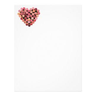 Wine Cork Heart Letterhead