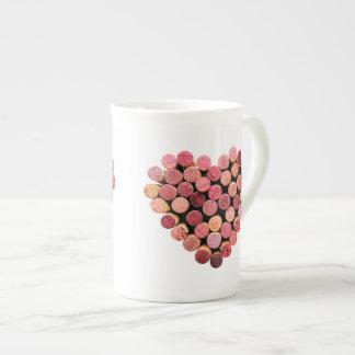 Wine Cork Heart Mug Porcelain Mug