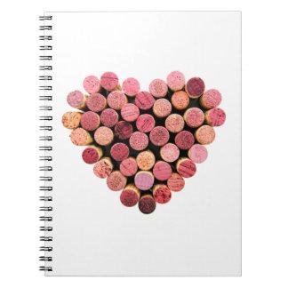 Wine Cork Heart Notebook