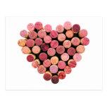 Wine Cork Heart Postcard at Zazzle