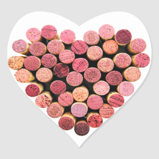 Wine Cork Heart Stickers