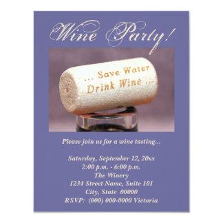 Wine Cork Invitations