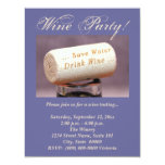 """Wine Cork Invitations 4.25"""" X 5.5"""" Invitation Card"""