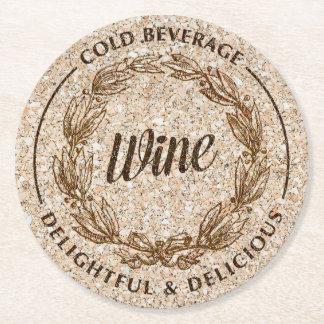 Wine cork paper coasters