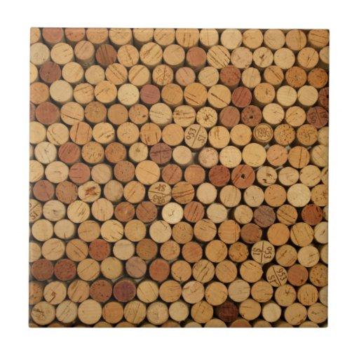 Wine cork pattern ceramic tiles zazzle for Wine cork patterns