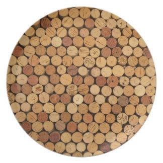 Wine Cork Pattern Party Plate