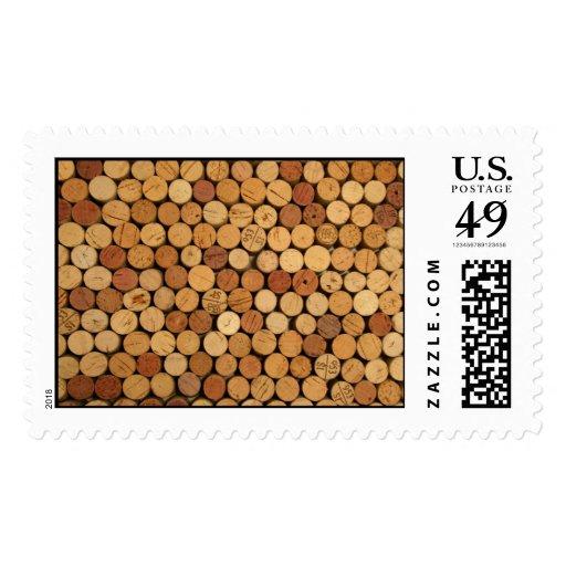 Wine cork pattern postage zazzle for Wine cork patterns