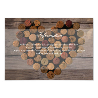 Wine Cork Rustic Information Card