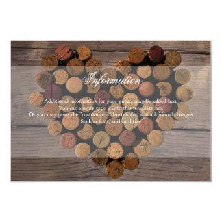 Wine Cork Rustic Information Card