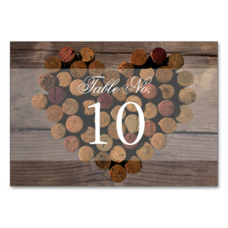 Wine Cork - Rustic Table Number Card