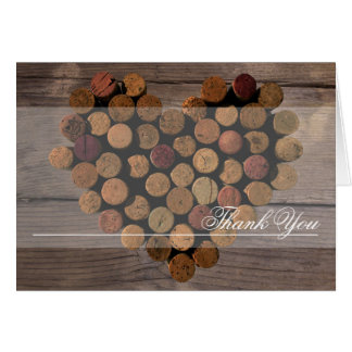 Wine Cork - Rustic Thank You notes