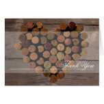 Wine Cork - Rustic Thank You notes Stationery Note Card
