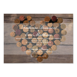 Wine Cork Rustic Wedding Invitation
