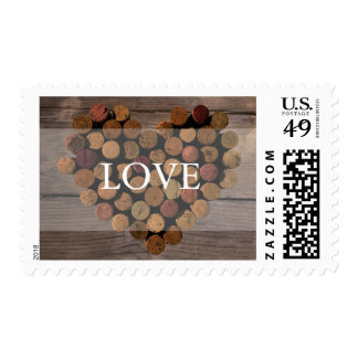 Wine cork rustic wedding stamp